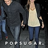 Orlando Bloom and Miranda Kerr enjoyed an evening out in London with friends in September 2008.