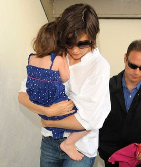 Photos of Katie Holmes and Suri Cruise in DC