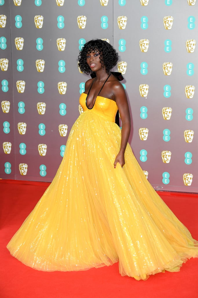 Jodie Turner-Smith Was a Literal Ray of Sunshine in Her Yellow Gucci Gown at the 2020 BAFTAs