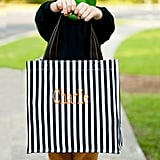 Personalized Striped Shopper
