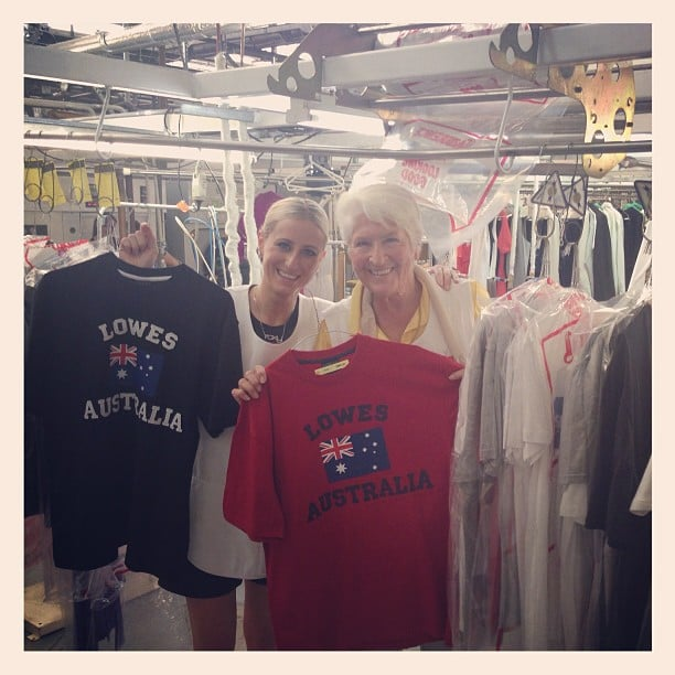 Roxy Jacenko and Dawn Fraser gave a shout out to Lowes for their donation. Source: Instagram user sweatybettypr