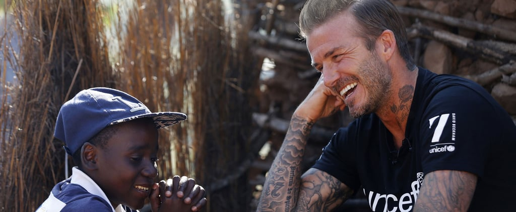 "David Beckham Bonds With Children During His ""Inspiring"" Visit to Africa"