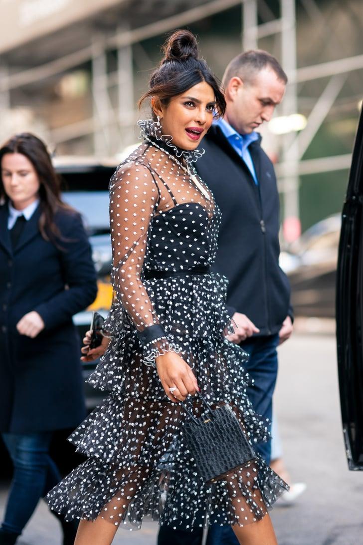 Priyanka Chopras Sheer Polka-Dot Dress  Popsugar Fashion Photo 7-6010