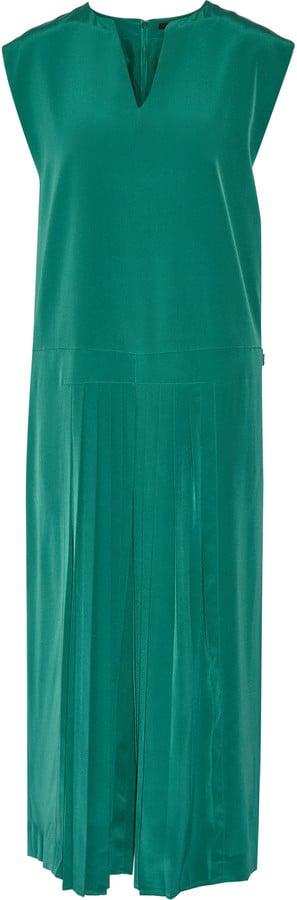 Tibi Simone pleated silk jumpsuit ($565)