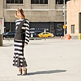 A Striped Maxi With Elevated Accessories