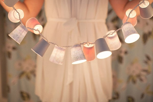 Light Up With DIY Dixie Cup Garland