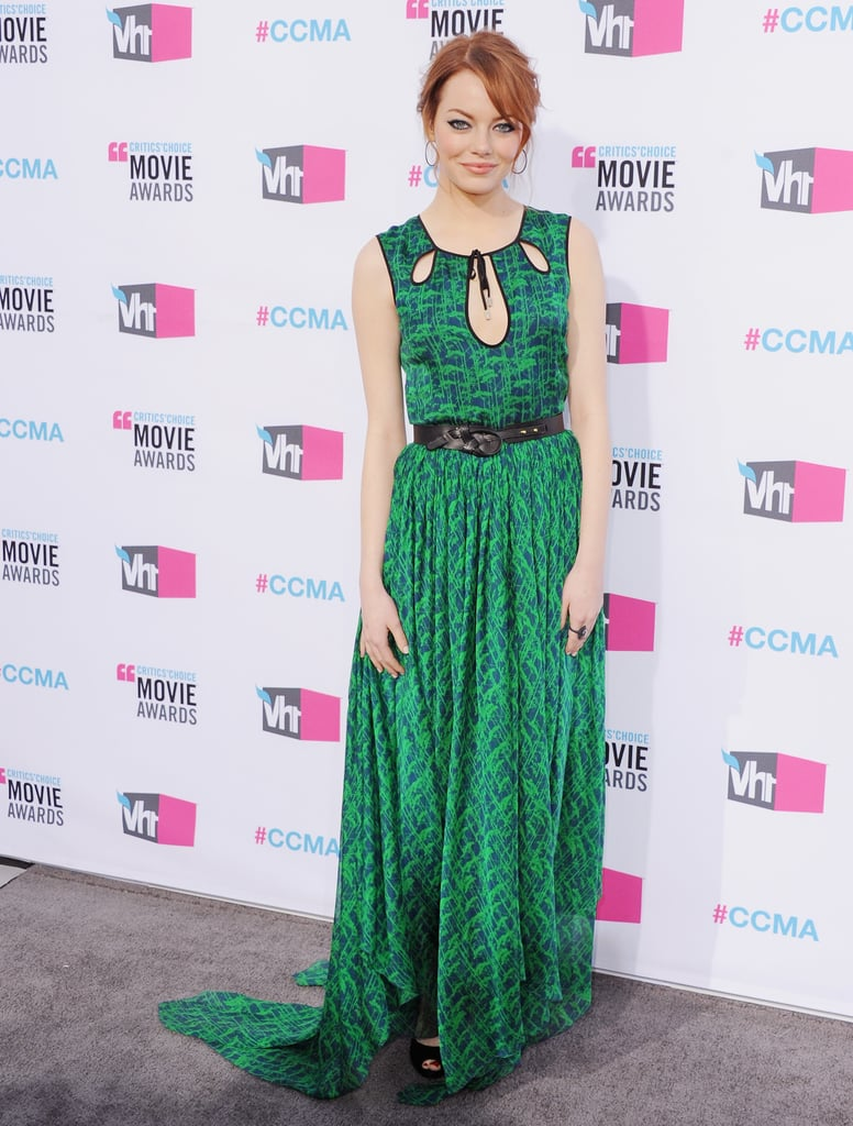 We loved her green cutout-front Jason Wu gown at the 2012 Critics' Choice Awards.