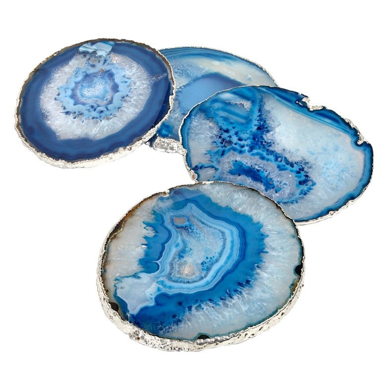 For the sophisticate in your life, look no further than the azure coaster set ($120) from Zinc Door. The agate coasters have a cool silver edge, making them a glamorous coffee-table addition. — Laura Marie Meyers, assistant news editor