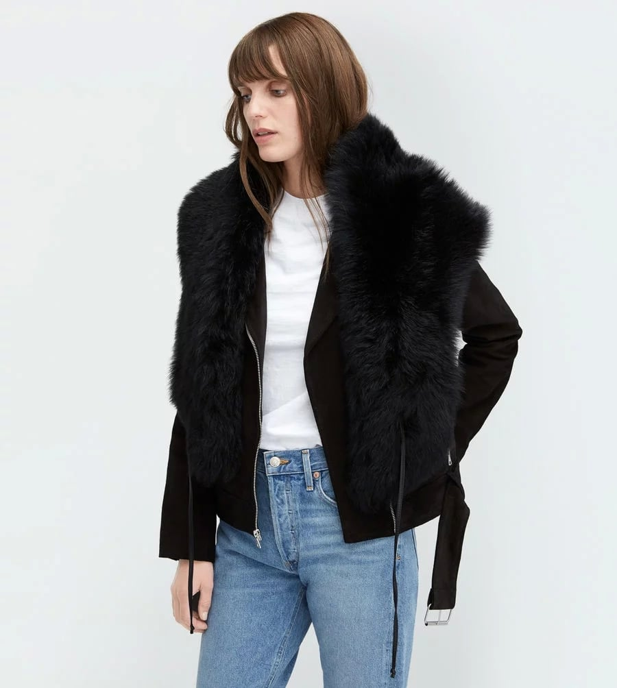 UGG Black Sheepskin Shrug