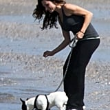 Puppy Love! Dwayne Johnson Takes a Stroll on the Beach With His Girlfriend and Dog