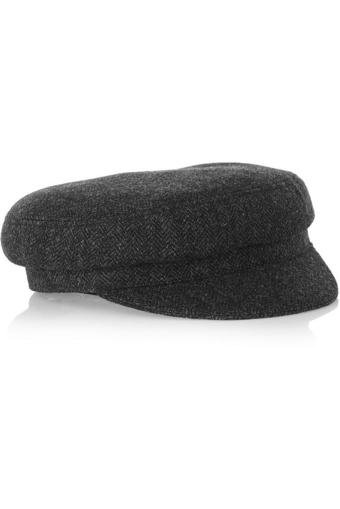 Etoile Isabel Marant Evie Herringbone Wool-Blend Tweed Flat Cap ($175)