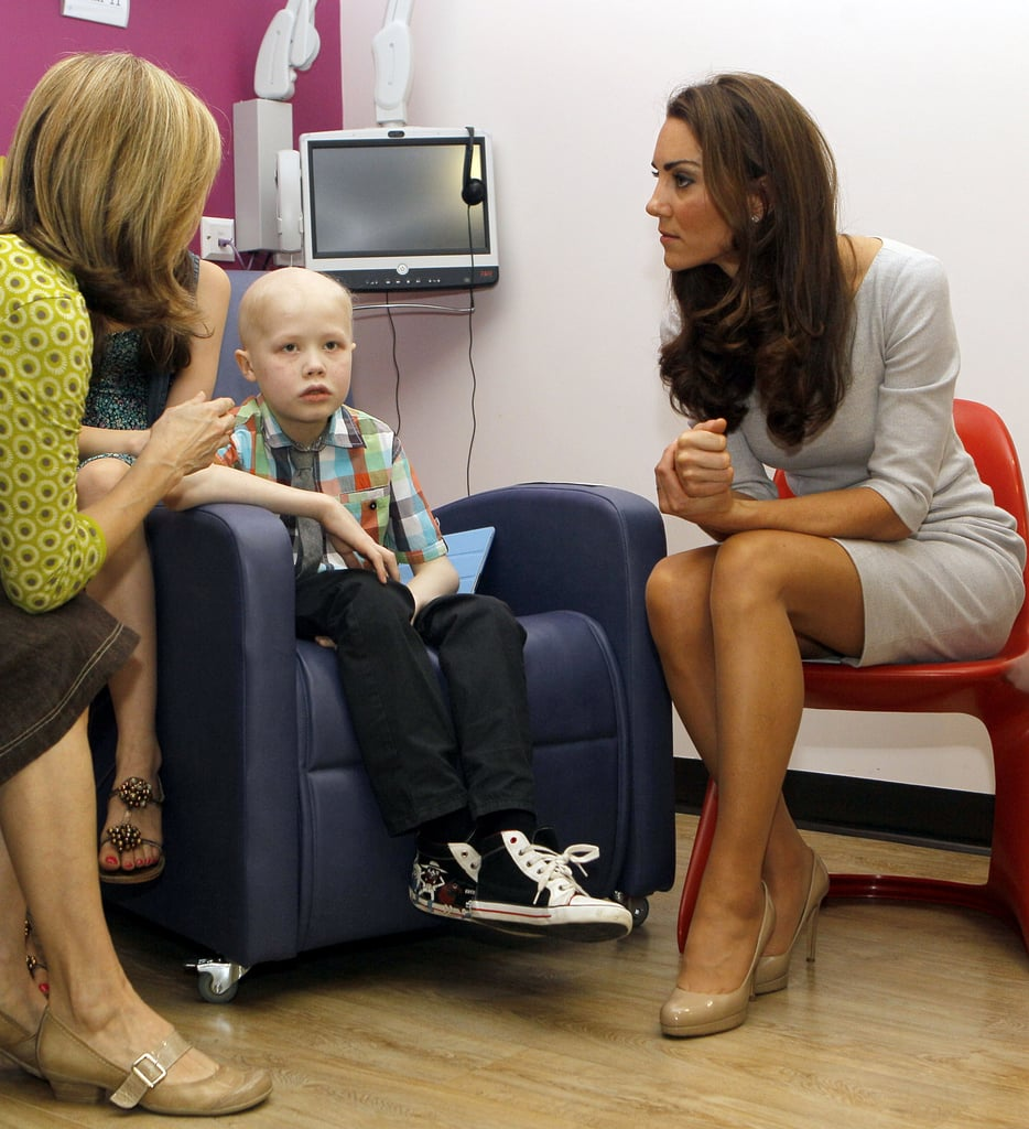 Kate Middleton visited with a woman at the Royal Marsden Hospital's youth cancer center.