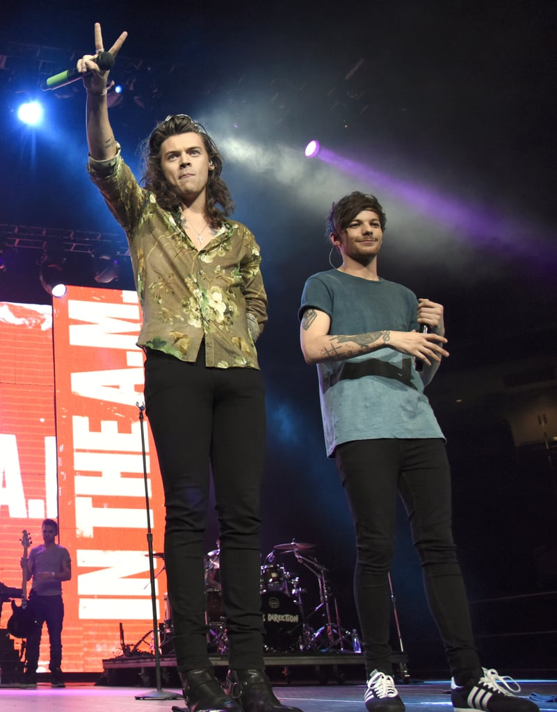Harry Styles and Louis Tomlinson Performing at Triple Ho Show in San Jose, CA, in 2015