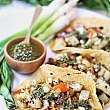 Vegan Tacos With Grilled Veggies and Chimichurri