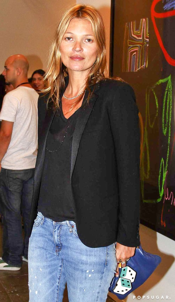 Kate Moss visited the Sao Paulo Bienal exhibition in Brazil on Thursday.