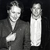 Newlyweds at the time, Meryl Streep and Don Gummer make a cute couple at Woody Allen's New Years Eve party in 1979.