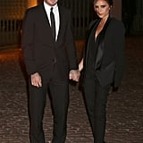David Beckham and Victoria Beckham linked up before the London Fashion Week event.