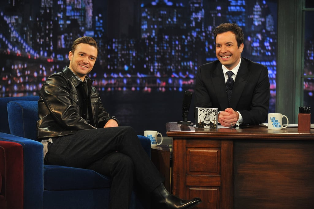 Justin Timberlake chatted with host Jimmy Fallon.