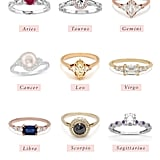 Engagement Ring Styles by Zodiac Sign 2019