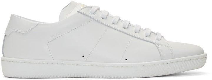 Saint Laurent White SL/01 Low-Top Sneakers ($545)