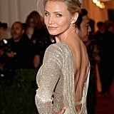 Cameron Diaz went backless in her Stella McCartney.