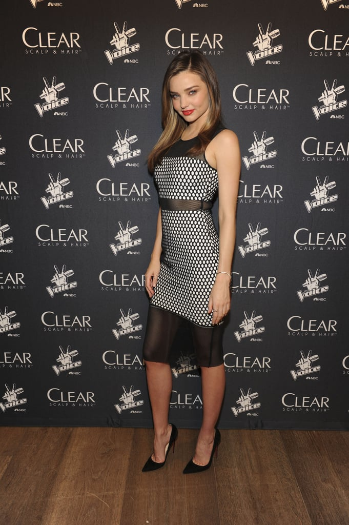 Miranda Kerr hosted a concert with The Voice fan favorites and Clear Scalp & Hair in NYC on Monday. Source: Michael Simon