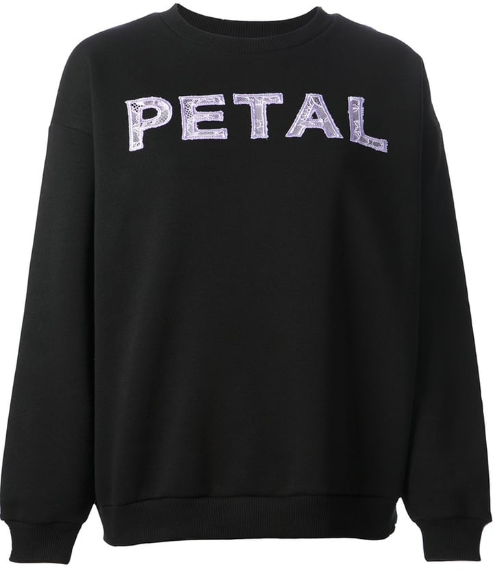 Christopher Kane Lace Floer Applique Sweatshirt ($560)