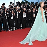 Diane Kruger stepped onto the red carpet in an aqua gown for the opening of the Cannes Film Festival and the premiere of Moonrise Kingdom.