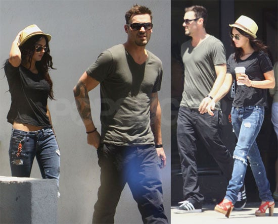 Photos of Megan Fox and Brian Austin Green Getting Coffee
