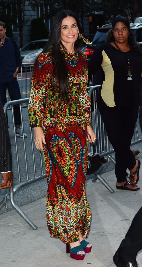 Demi Moore's Maxi Dress at Good Time Premiere