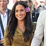 Meghan Markle's Flower Hair Accessory in South Africa, 2019