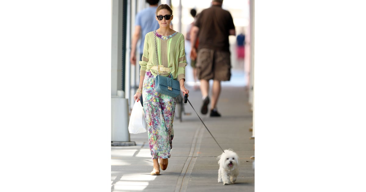 e272a7420a9 Olivia Palermo can always be seen walking her Maltese .