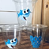Baby Shark Party Cups With Lids