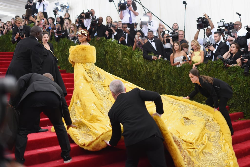 Rihanna in Guo Pei at the 2015 Met Gala