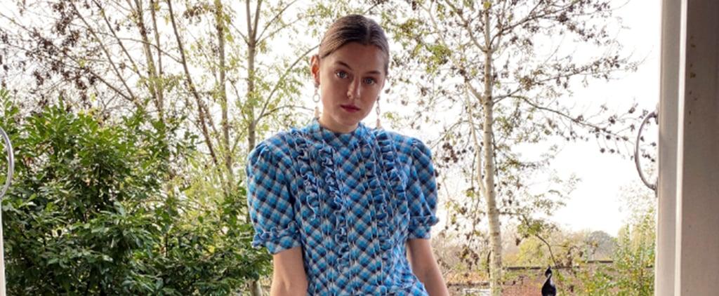 Emma Corrin Wearing Miu Miu at The Crown Season 4 Premiere
