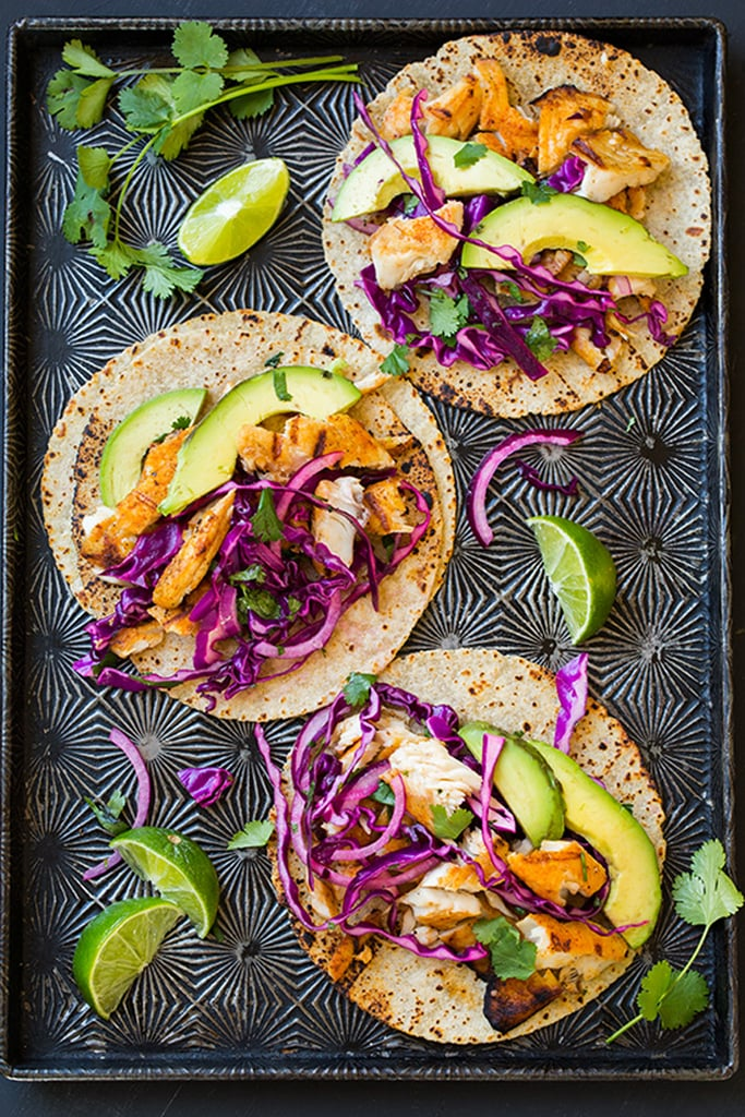 Grilled Fish Tacos With Cabbage Slaw and Avocado