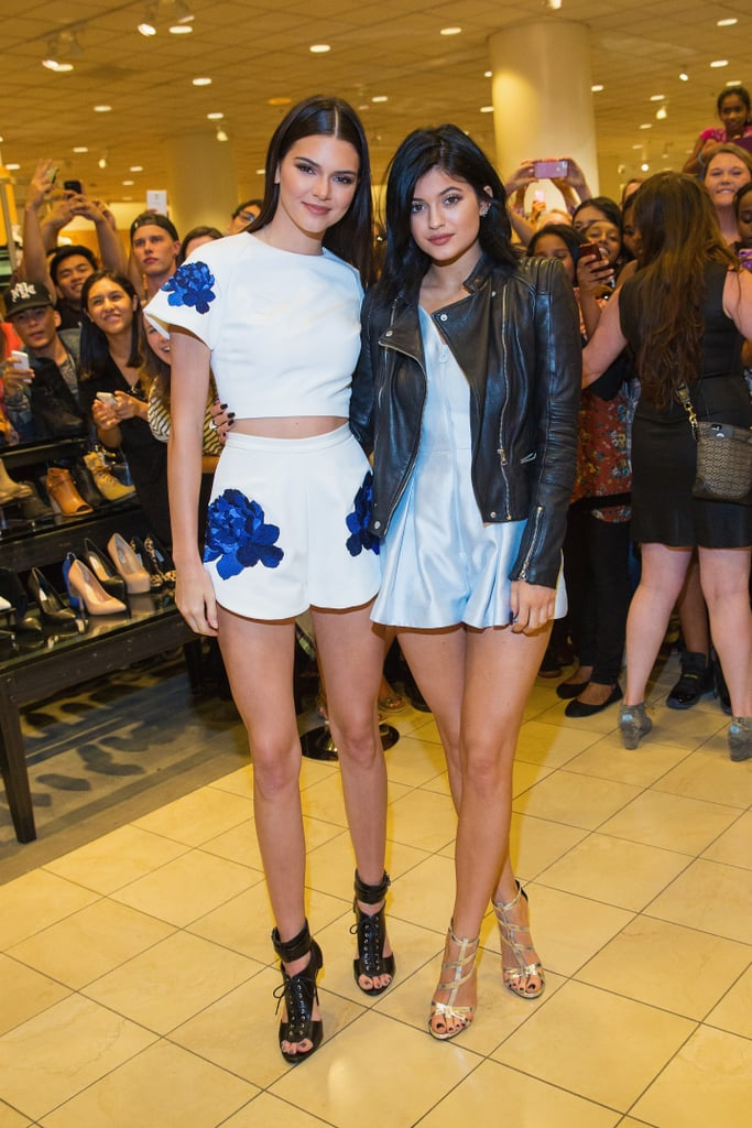 There Was That One Time Kendall Used Her Lace-Ups to Coordinate With Kylie's Moto Jacket