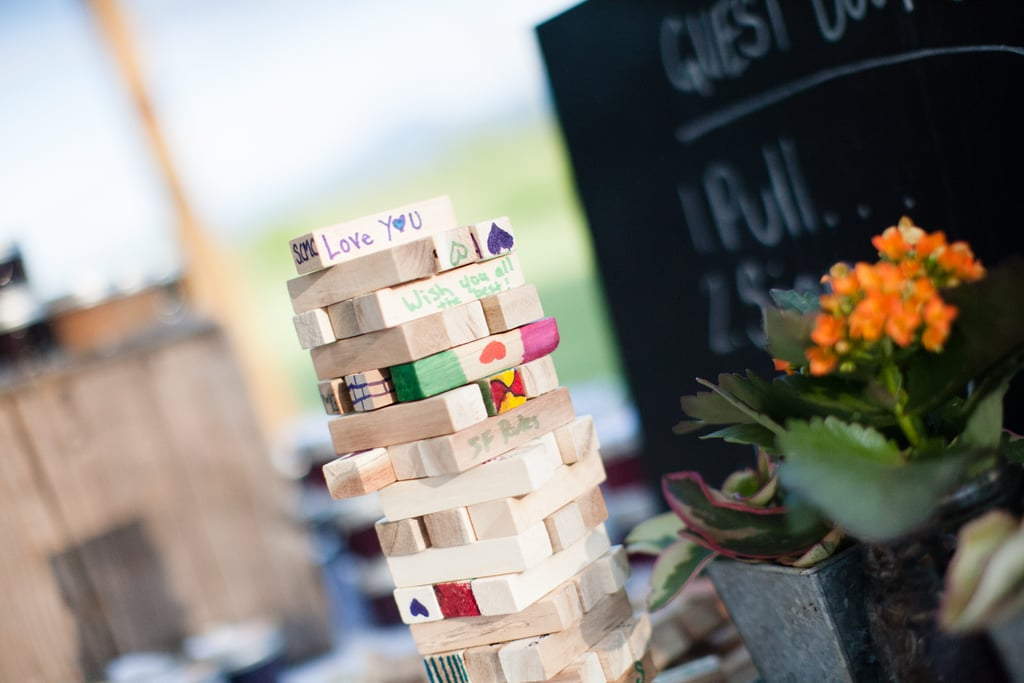 Their guest book was a Jenga game! Source: Evangeline Lane Photography