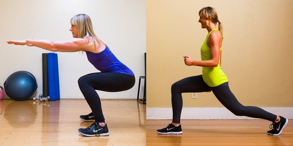 The Difference Between Squats and Lunges   POPSUGAR Fitness