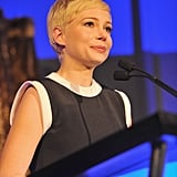 Michelle Williams accepted the Oscar Wilde award.
