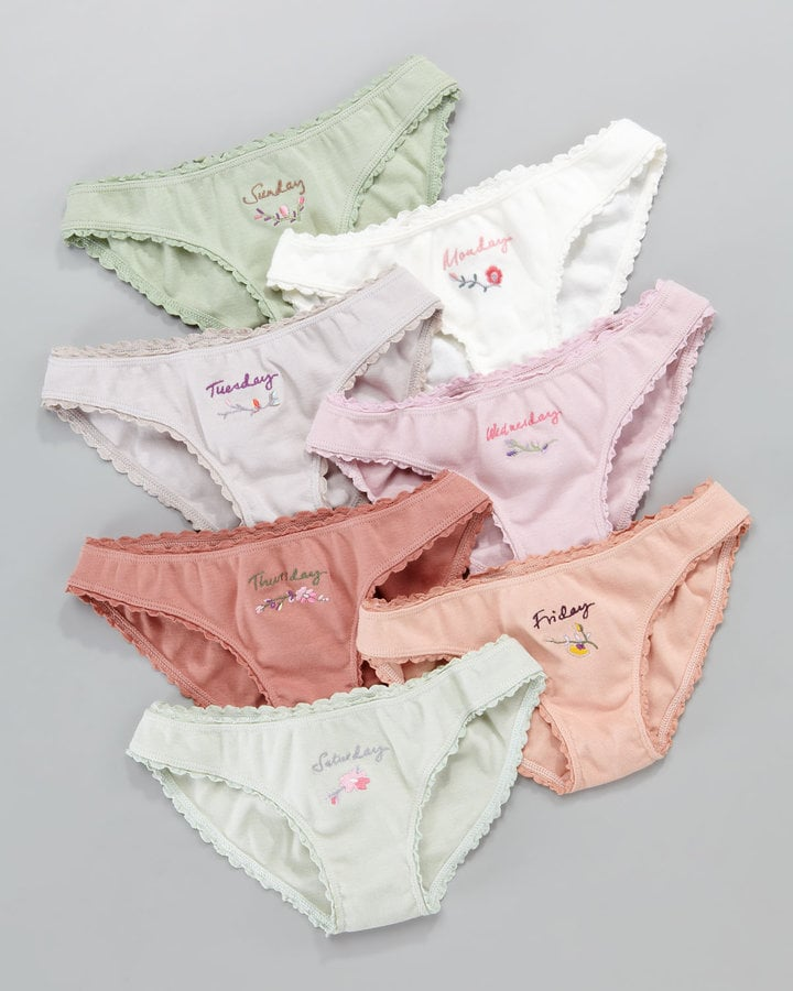 Days of the Week Underwear Set. The little girls, Days-of-the-Week set includes seven pairs of Mia Hipster underwear with seven different contrast-colored 0549sahibi.tk little one will love the matching motif design and the special routine of reaching for the right pair Monday through Sunday/5(33).