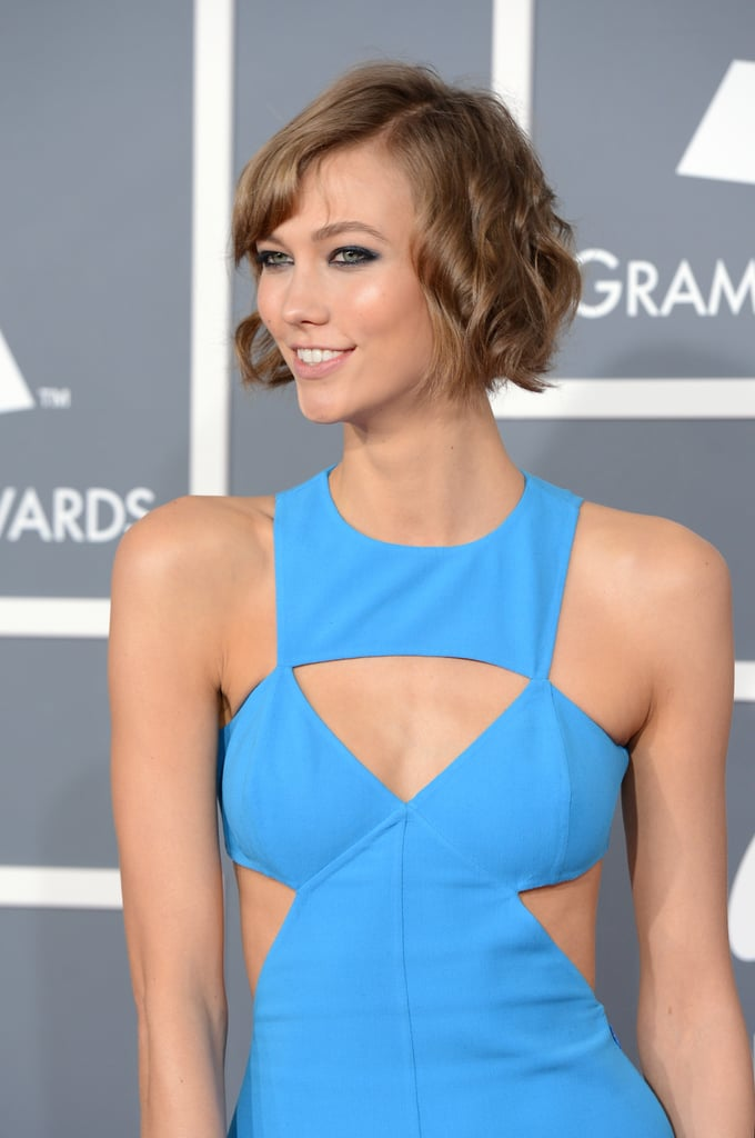 Karlie Kloss wore a Michael Kors cutout dress to the Grammys.