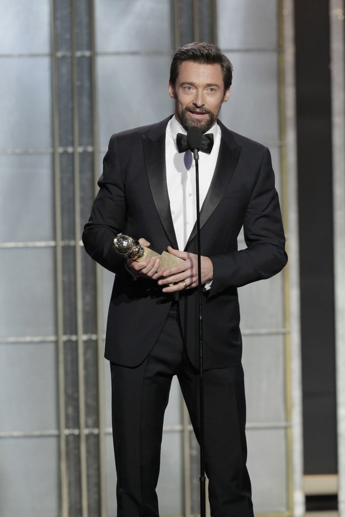 Hugh Jackman thanked his wife in his speech.