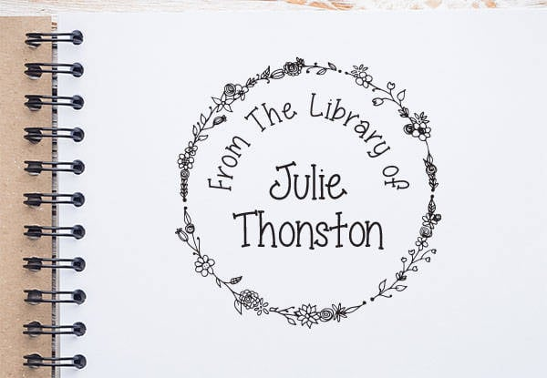Personalized Library Stamp