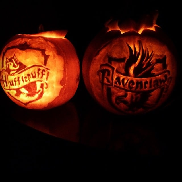 Hufflepuff And Ravenclaw Harry Potter Pumpkin Ideas