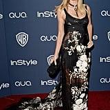 Heidi Klum resurfaced at the InStyle bash.