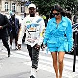 Kim Kardashian and Kanye West at Paris Fashion Week 2018