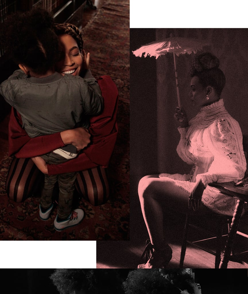 """Blue Ivy Carter might just be the cutest kid on the planet! On Sunday, Beyoncé released precious behind-the-scenes photos of Blue on the set of her new video, """"Formation."""" In one of the images, Blue is shown playing with another girl in the same white dress and veil from the video, and in another, Beyoncé and Blue are pictured sharing a sweet moment together. The adorable photos come a day after the singer dropped the new single and video out of nowhere and just hours before Beyoncé took the stage at Super Bowl 50. Read on for the photos, and then see how Blue adorably upstaged Beyoncé in her """"Formation"""" music video."""