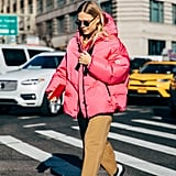 Try Combining Watermelon Pink With Khakis and White Boots