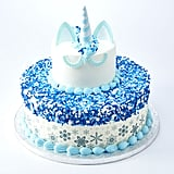 The Two-Tier Winter-Themed Unicorn Cake